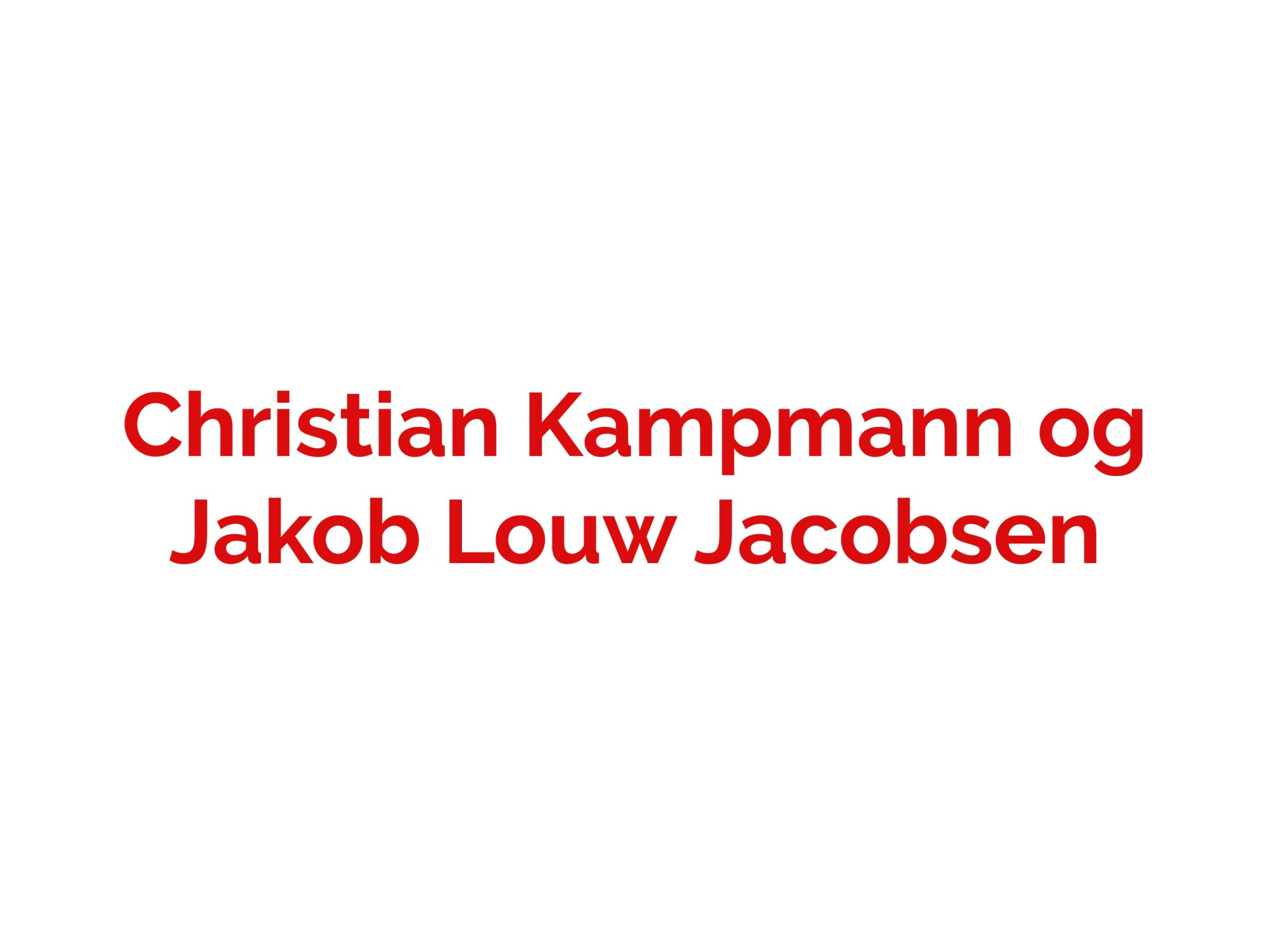 Christian og Jakob